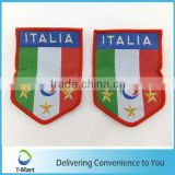 Italia Sign Embroidery Badge/Sticker/patch design woven label for clothings, bags, and garments