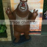 fiberglass bear sculpture ,life in size cartoon statue, amusement park with bear decor