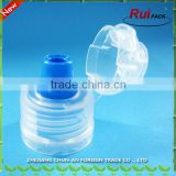 Plastic 28/1810 screw cap for miner water bottle/ hot sale plastic double temper-evident closure lid