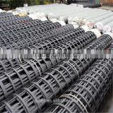 Biaxial steel-plastic compound geogrid