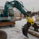 excavator grapple bucket attachments Rotating Log Stone Grapple for Sunward Kobelco Volvo Doosan CAT Excavator