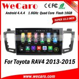 "Wecaro WC-TR1063 10.1"" Android 4.4.4 car multimedia system double din for toyota rav4 dab radio audio system GPS 2013-2015"