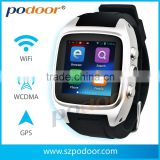 custom watch phone android 4.4 compass heart rate G sensor, GPS GSM/WCDMA 3G custom podoor smart watch phone