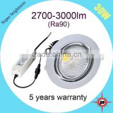 360 dregee rotatable wholesale 5 years warranty cob led downlight 30w                                                                                                         Supplier's Choice