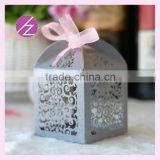 Custom laser cut wedding invitation card flower box favor box /Birthday /wedding candy box /gift box with free ribbon TH-93