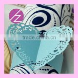 Laser Cut Wedding Party Decoration Heart Shape Napkin Ring MJ-32