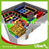 According to room size professional outdoor and indoor games kids and adult gymnastic trampoline park with foam pit for sale