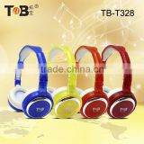 Top sound big bass high end bright color cute headphone with knitted head band