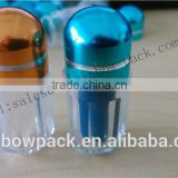 Good price plastic capsule bottle with aluminum foil cap for man enhencement pills packaging/small blue clear capsule bullet
