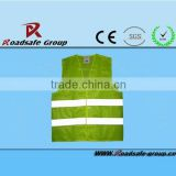 High visibility safety blue warning vest