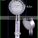LED light handheld shower head anion healthy shower head round hand shower for bathroom temperature control showers