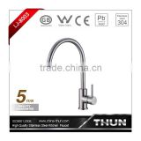 Euro-style single lever kitchen faucets