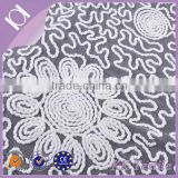 Fashion sunflower wool rope embroidery design 100% polyester mesh embroidered designs lace for garment
