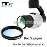 PGY Blue Gradual color graduated filter Lens for DJI OSMO inspire1 X3 Gimbal Camera UAV drone accessories