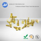 Brass nut and hand twist the screw copper of brass fittings, small parts lathe processing manufacturer