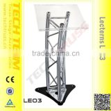 Aluminum Unique Aluminum TV Stands Latest Design TV Stands TV-01Portable Lectern Acrylic Podium Pulpit Lecternc