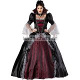 Factory Wholesale Adult Women Queen Of The Vampires Halloween Sexy Fantasy Black Gothic Lolita Dress Cosplay Costume