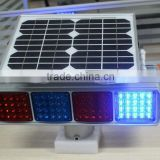 Super bright kutuo two-sided solar power system warning light solar powered flashing light
