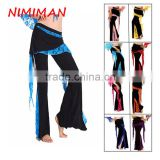 2016 Wholesale Cheap Tribal Belly Dance Pants for Women Belly Dancing Costume Pants 10 Colors Available