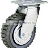 Heavy duty ball bearing Flame PU Caster, swivel with top plate