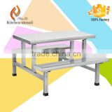 Vietnam hot sale officials and staff Stainless Steel Dinner table with seat                                                                         Quality Choice
