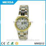 Hot selling gold plated details quartz brand name ladies watches