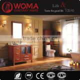 Double Sinks Brown color Bathroom Cabinet Oak Wood Vanity New design Bathroom cabinet No.1005B