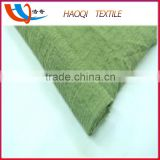 Direct from factory HaoQi textile woven 10S*10S cotton moss crepe fabric for women dress