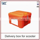 LLDPE Plastic delivery box for scooter, insulated delivery box for Food ( SCC manufacturer )