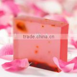 Alibaba China Supplier Hot Sale 70G 100G Famous Solid Form Rose Extract Skin Whitening Handmade Herbal Soap
