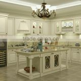 European style kitchen cabinet in white color good quality
