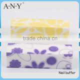 OEM Welcome Cheap Emery Sand Nail Buffer File Flower Style