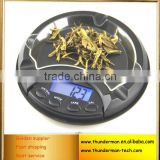 100g/0.01g,500g/0.1g High Precision Ashtray Pocket Digital Electronic Jewelry Balance Scale
