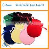 Yiwu Supplier Custom Velvet Pouch Gift Bag for Jewelry Drawsting Cosmetic Bags