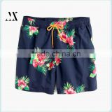 New Fashion Flower Printed Swim Short With 100% Polyester Mesh Lining Qucik Qry Beach Shorts