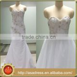 ASAW12 Latest Design Charming White Lace Up Strapless Detachable Train Sexy Wedding Dresses Real Photo Robe De Mariage