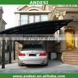 aluminum residential carport with PC panels roof