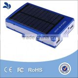 20000mAh Solar Charger Dual USB Portable Power Bank External Battery Backup Charger with LED Flashlight