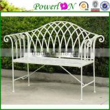 Antique Vintage Metal Leg Cast Iron Patio Garden Bench For Outdoor Backyard I22 TS11 X11B PL08-8671CP1