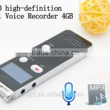 Professional 4GB With Built-in Microphone For MP3 Play long time Digital Audio hidden Voice Recorder