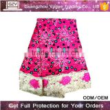 Alibaba supplier vogue high quality 100% cotton wax prints voile lace fabric nigerian african