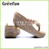 New Designs Hot Selling Fashion Shoe Woman Slipper Import Slipper China Lady Slipper Wedding Flip Flops