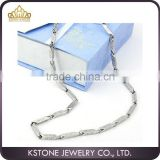 KSTONE Punk Stainless Steel Byzantine Link Chain Men's Bracelet with Necklace Jewelry Set