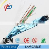 FTP cat5e CCA/CCS/bare copper 4pairs twisted solid bulk 1000ft network cable