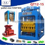 qt12-15 concrete brick molds brick manufacturing machine stone block making machine price list