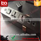 CE Approve Office Furniture for Desktop Unversal Power Plug Socket with 2*RJ45 Connector