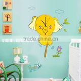 Flowers elephant cat clock wall stickers decoration decor home decal fashion cute waterproof bedroom living sofa family MFS-002