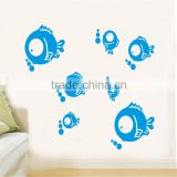 Supernova Cute Nursery Daycare Baby Room Home Decoration Vinyl Wall Art Poster sea fish DM57-0071