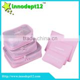 Polyester portable for travel packing cubes set travel bag storage