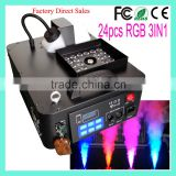 Halloween Pack Geyser 24x3w RGB 3 in 1 LED 1500W DMX Vertical Upward Fogging Machine With CO2 JET Effect